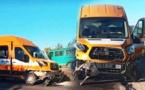 حادثة سير بين حافلة للنقل المدرسي وسيارة مدنية ترسل تلميذة لمستعجلات المركز الصحي بقرية أركمان