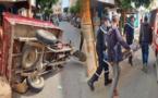 إصابة شخص في حادثة سير بين سيارة ودراجة ثلاثية العجلات وسط مدينة الدريوش