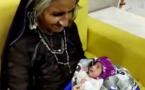 حالة نادرة.. عجوز في الـ70 من عمرها تنجب مولودها الاول