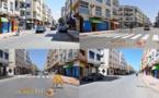 وتستمر الأعمال الترقيعية..ممرات الراجلين بشارع المسيرة تختفي والمسؤولين في خبر كان