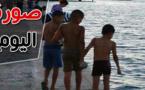 صورة اليوم : أطفال صغار يقضون نهار رمضان في السباحة ببحيرة مارتشيكا