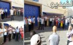 العدل و الإحسان تحتج أمام السجن المحلي تضامنا مع أحد أعضاها القابع وراء قضبان هذا المعقل