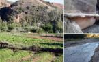 الفيضانات الأخيرة لواد أمقران تجرف مجموعة من قنوات الجر وتسبب في حرمان الفلاحين من مياه الري