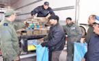 حجز 23 كيلو من الشيرا في حافلة للنقل الدولي بميناء بني انصار بالناظور