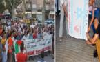 إسبانيون يشاركون الجالية المغربية في وقفة تضامنية مع الشعب المغربي باسبانيا