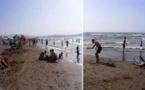"""إقبال كبير للمصطافين على شاطئ """"رحاش"""" بتمسمان"""