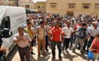 """""""الخطافة"""" يحتجون ضد توقيف سياراتهم في مسيرة باتجـاه مفوضية الأمن بزايـو"""