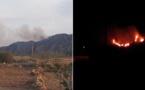 حريق مهول يشب بإحدى الغابات بتمسمان والمسؤولون يغيبون عن إخماد الحريق