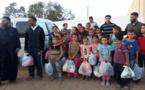 جمعية الرحمة توزع ملابس العيد ل100 طفل من أسرة فقيرة بتمسمان