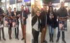 فعاليات من الجالية المغربية بهولندا تخصص إستقبال حار لفرقة تانسيفت للمسرح بمطار أمستردام