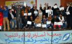 فريق جمعية النور للصم والبكم لكرة القدم يُكرّم بأزغنغان بعد فوزه بكأس العرش