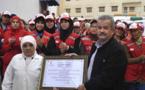 الهلال الأحمر بالناظور يكرم إحدى قيدوماته بأزغنغان