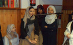 إعتناق أربع فتيات إسبانيات للإسلام دفعة واحدة بمسجد المحسنين بمدينة بيك ببرشلونة