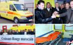 جمعيتين من بلجيكا تسلمان سيارة إسعاف كهبة للهلال الأحمر بالدريوش