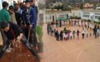 غرس مئة شتلة داخل فضاء م.م. بني مليكشن بتمسمان احتفالا باليوم الوطني للتعاون المدرسي