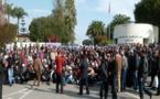 مستخدمو قطاع الماء بالناظور يشاركون في الوقفة الاحتجاجية أمام مقر الإدارة العامة بالرباط