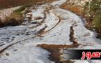 تساقطات ثلجية بقمم جبال إفرني تسبب في انخفاظ ملحوظ في درجة الحرارة بتمسمان