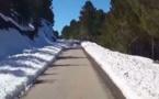 جبال إقليم الحسيمة تلبس البياض وتشهد تساقط كمية هائلة من الثلوج