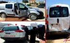 سائق متهور يتسبب في حادثة سير مع سيارة تابعة لدار الطالبة ويلوذ بالفرار بالدريوش