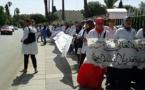 طلبة مهن التمريض بالناظور يلتئمون ضمن مسيرة إحتجاجية صاخبة بوجدة
