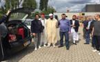 الجالية المغربية بالدانمارك تُوّدع بعثة الأئمة والقراء المغاربة الذين أحيوا شعائر شهر رمضان