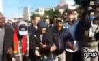 """شاهدوا مناضلين ناظوريين معروفين يرقصون """"الركّادة"""" في مسيرة إحتجاجية للعمال بالبيضاء"""