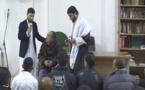 بالفيديو.. مسجد الفجر يعرف دخول ثلاث سيدات ورجل للدين الإسلامي