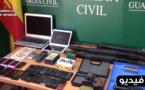 إعتقال 13 شخصا وحجز 1300 كلغ من مخدر الشيرا أثناء تفكيك شبكة متخصصة في تهريب المخدرات الى إسبانيا