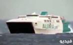 بالصور والفيديو .. سفينة محملة بالمسافرين تنجو بأعجوب إثر الرياح القوية التي تجتاح جبل طارق