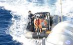 زورق إسباني خاص بمراقبة السواحل يعثر على حزم مملوءة بالحشيش طافية على سطح بحر البوران