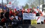 بالصور.. وقفة حاشدة أمام مقر الأمم المتحدة بمدينة بون الألمانية إحتجاجا على تصريحات بان كي مون