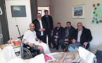 بالصور.. فعاليات دينية ببلجيكا تقوم بزيارة لأحد المغاربة من ضحايا الهجوم الإرهابي
