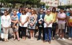 إمبرودا وعشرات الاسبان يقفون دقيقة صمت على الاكوادرية التي قتلها زوجها المغربي