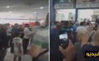 شاهدوا بالفيديو احتجاجات عارمة للمئات من أفراد الجالية المغربية داخل موانئ إسبانيا