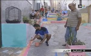 """قناة """"دوزيم"""" ترصد المبادرة الرائعة لشباب الحسيمة التي همّت تغيير معالم الشوارع وتزيين أحياء المدينة"""