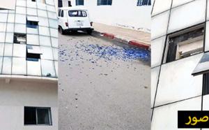 تساقط زجاج مقر الجماعة الحضرية لمدينة الناظور ونشطاء يحذرون من سقوطه على رؤوس المرتفقين