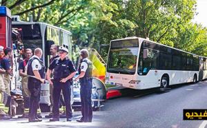 هجوم بواسطة سكين على حافلة بألمانيا يؤدي الى إصابة 14 شخصا
