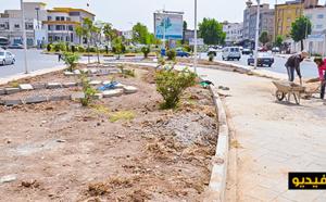 """ربورتاج.. انطلاق أشغال إعادة تأهيل وتهيئة حديثة """"شارع 3 مارس"""" وسط الناظور"""