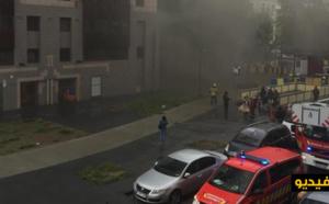 بالفيديو..  إحتراق العشرات من السيارات في موقف تحت-أرضي  بالعاصمة بروكسل