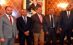 البرلماني عبد القادر سلامة يجري مباحثات مع وفد المجلس الأعلى لدولة ليبيا بمجلس المستشارين