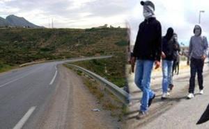 خطير: مجهولون يعترضون سبيل السائقين بعد قذف سياراتهم بالحجارة لمحاصرتهم بطريق فرخانة بني شيكر