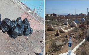 """جمعويون يبادرون إلى تنظيف المقابر القديمة بـ""""إحدادن"""" بالناظور"""