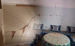 بالصور.. تضرر عدد من المنازل بسبب زلزال مدينة ميدلت