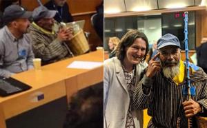 سفير تماسينت يدخل البرلمان الأوروبي بالسلة والعكاز