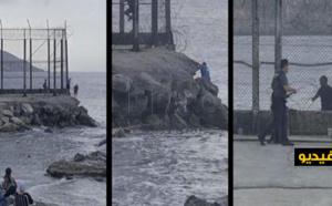 شاهدوا.. فرار مثير لثلاث شبان عالقين نحو الشواطئ المغربية