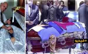 شاهدوا.. صور مع جثمان مارادونا في التابوت تخلق ضجة على مواقع التواصل