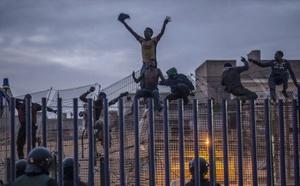 استنفار أمني بحدود مليلية بعد اقتحامها من طرف 120 مهاجراً